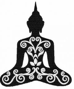 Buddha 1 embroidery design