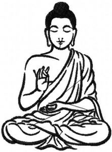 Buddha 2 embroidery design
