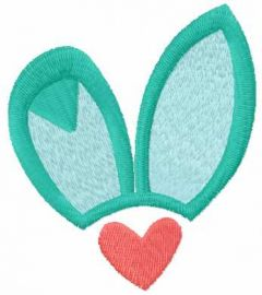 Bunny ears embroidery design