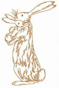 Bunny family embroidery design