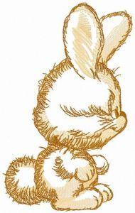 Bunny sketch embroidery design