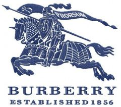 Burberry Group logo embroidery design