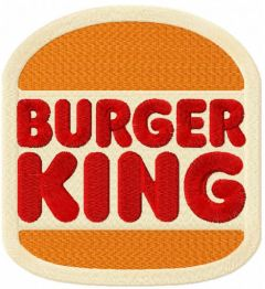 Burger King 2021 logo embroidery design