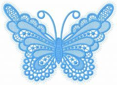 Butterfly lace applique embroidery design