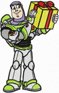 Buzz Gives Gifts embroidery design