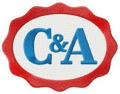 C&A logo embroidery design