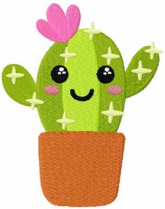 Cactus girl free embroidery design