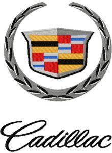 Cadillac machine embroidery design