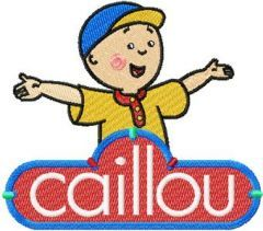 Caillou with logo embroidery design