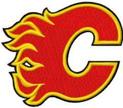 Calgary Flames Logo embroidery design