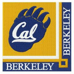 California Golden Bears logo embroidery design