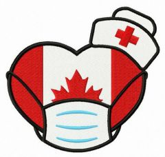 Canadian nurses embroidery design