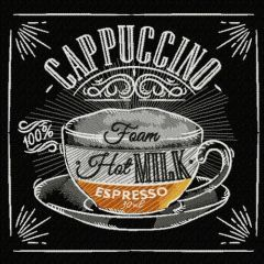 Cappuccino recipe embroidery design