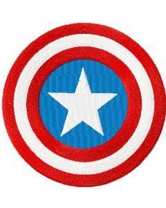 Captain America Shield embroidery design