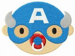 Captain America with dummy embroidery design