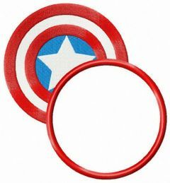 Captain America's shield round badge embroidery design