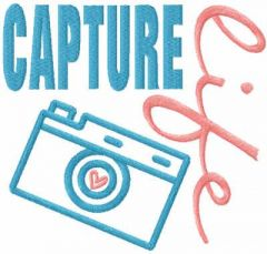 Capture life free embroidery design