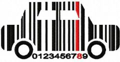 Car barcode embroidery design
