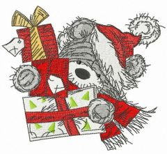 Carry gifts embroidery design