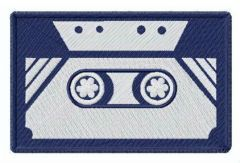 Cassette tape embroidery design