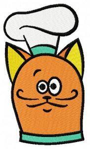 Cat chef 4 embroidery design