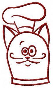 Cat chef 5 embroidery design