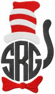 Cat in the hat srg embroidery design