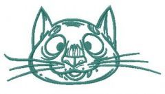 Cat with big nose embroidery design