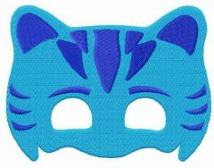 Catboy mask embroidery design