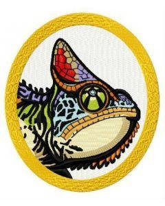 Chameleon 3 embroidery design