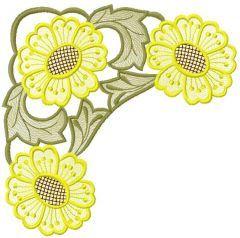 Chamomile 5 embroidery design