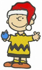 Charlie Brown's Christmas embroidery design