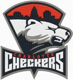 Charlotte Checkers Primary Logo embroidery design