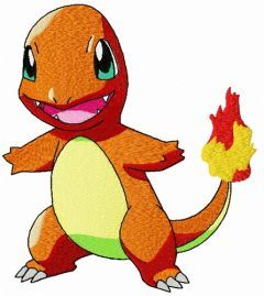 Charmander embroidery design
