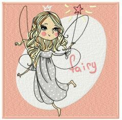 Charming fairy embroidery design