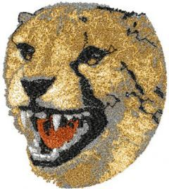 Cheetah 1 embroidery design