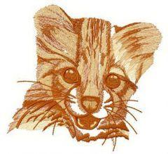 Cheetah roars embroidery design
