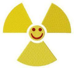 Chernobyl smile logo embroidery design