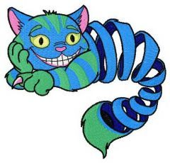 Cheshire crazy mood embroidery design