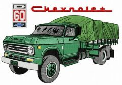Chevrolet D60 car embroidery design