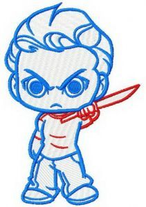 Chibi Glenn embroidery design