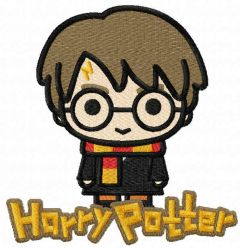 Chibi Harry embroidery design