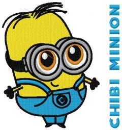 Chibi Minion embroidery design