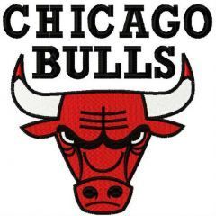 Chicago Bulls logo embroidery design