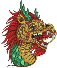 Chinese dragon 2 embroidery design