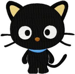 Chococat relax embroidery design