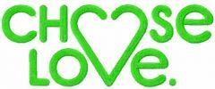 Chose love symbol embroidery design