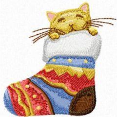 Christmas Cat - I'm hiding embroidery design