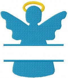 Christmas angel monogram embroidery design