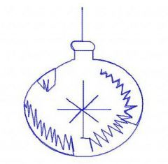 Christmas ball 3 embroidery design